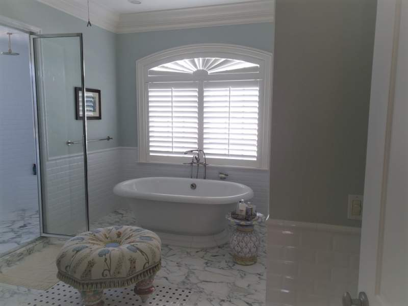 Bathroom Arch Top Shutter