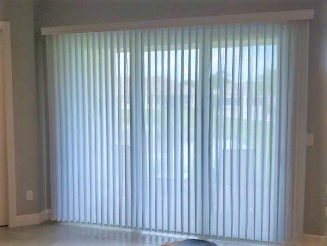 ado wrap window treatment on sliding door