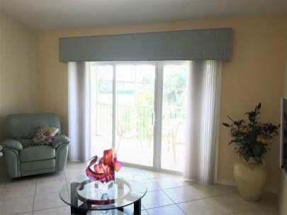 Cornice to accent sliding glass door