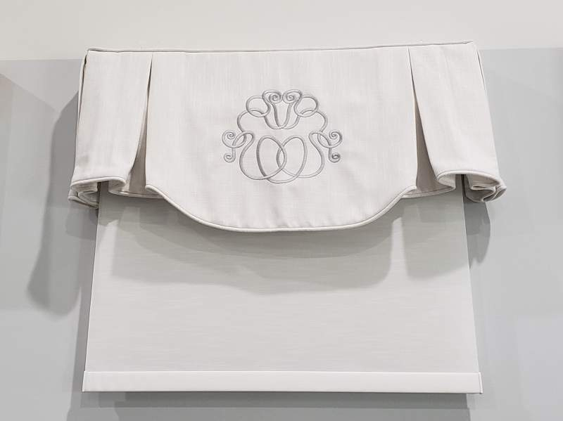 Embroidered Valance and Rollershade