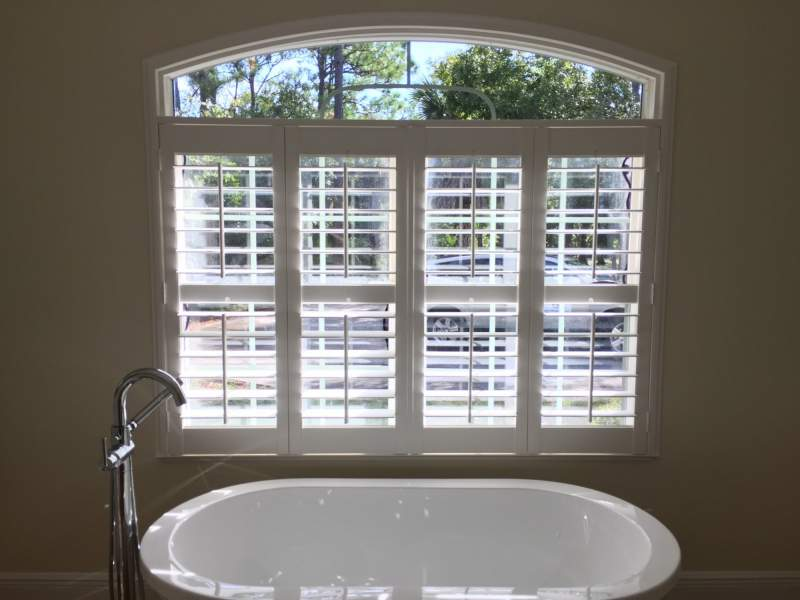 Window Covering by Master Bath Tub