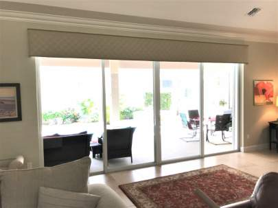 Cornice over sliding glass door
