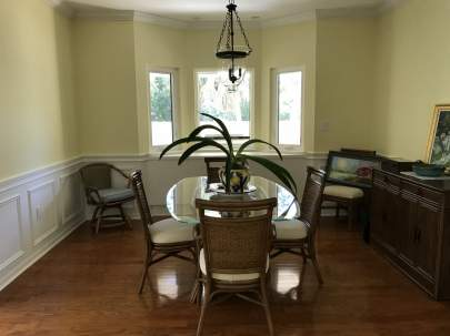 Breakfast nook with no valances