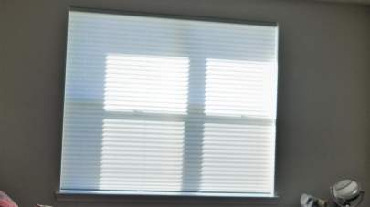Bedroom window with day shade only
