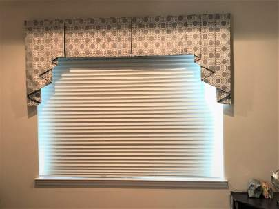 Bedroom window with valance