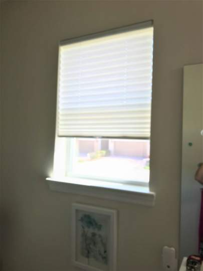 Bathroom window with no valance